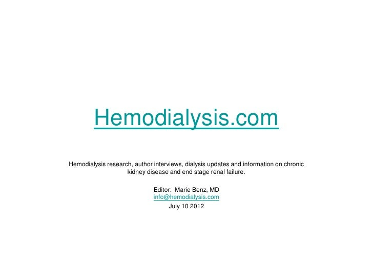 Hemodialysis.com | Kidney Disease | ESRD | Dialysis