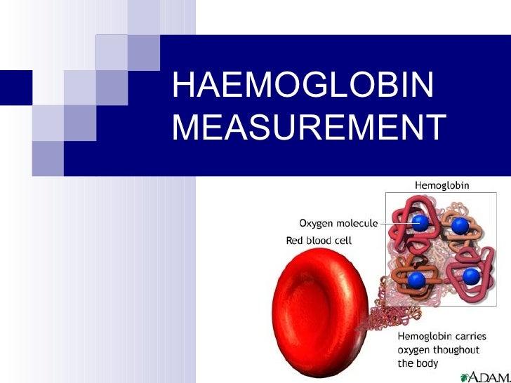 Hemoglobin estimation