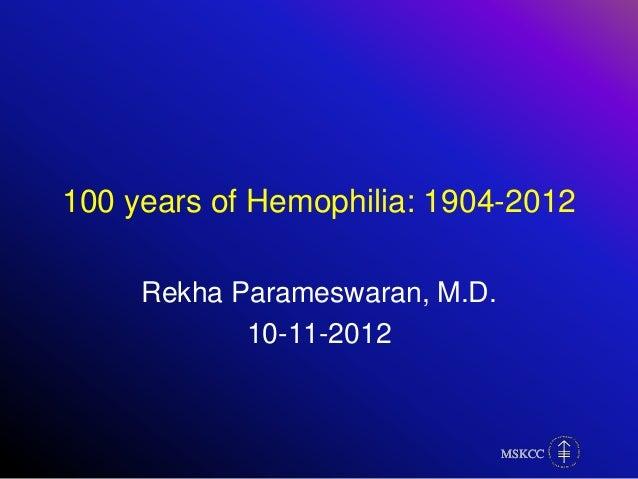 Hemophilia fellow