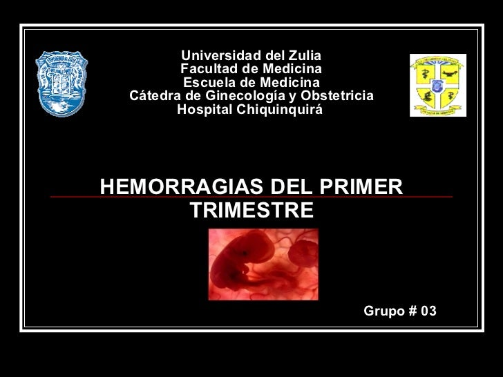 Hemorragias En La 1ra Mitad