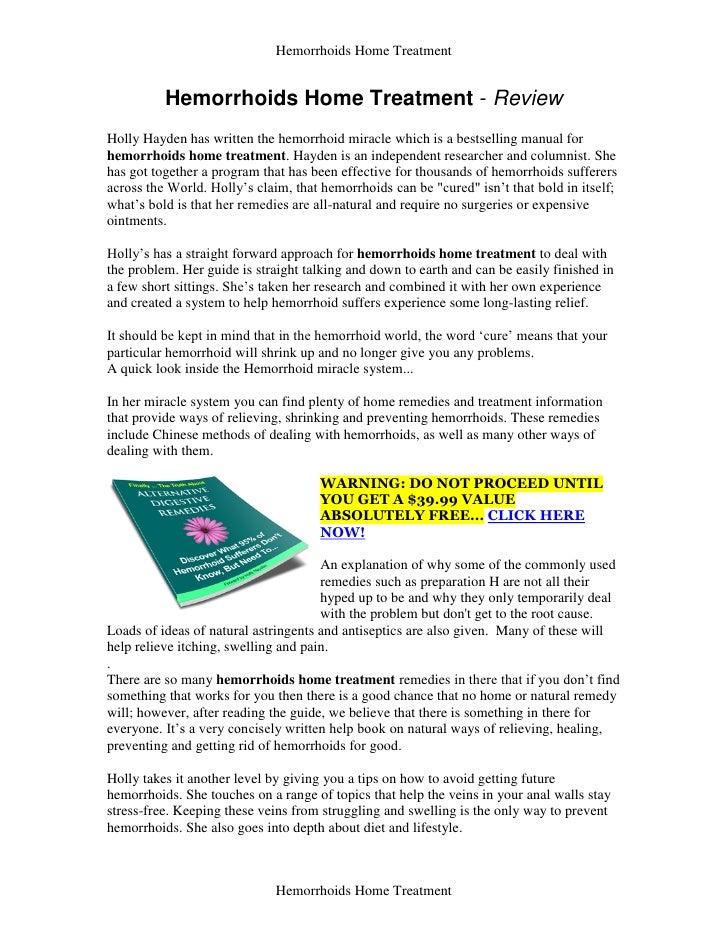 Hemorrhoids home treatment   review