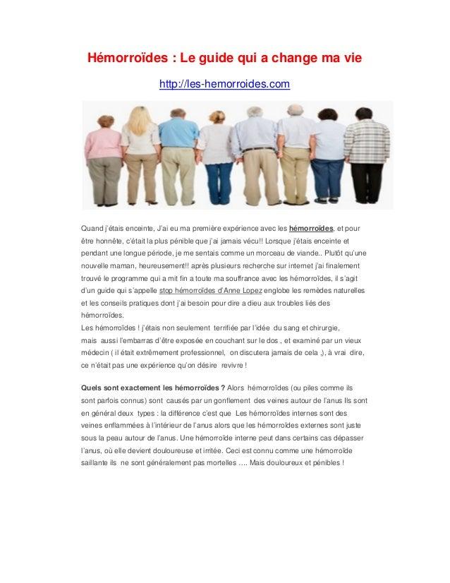 Hémorroïdes : Le guide qui a change ma vie