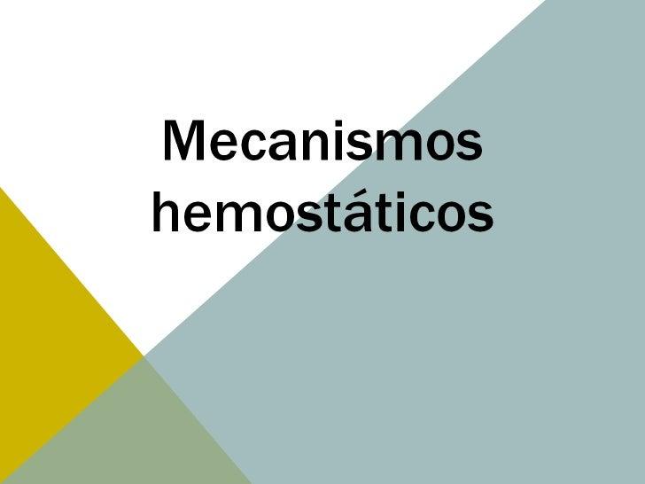 Hemostasia y coagulacion. Coagulacion.