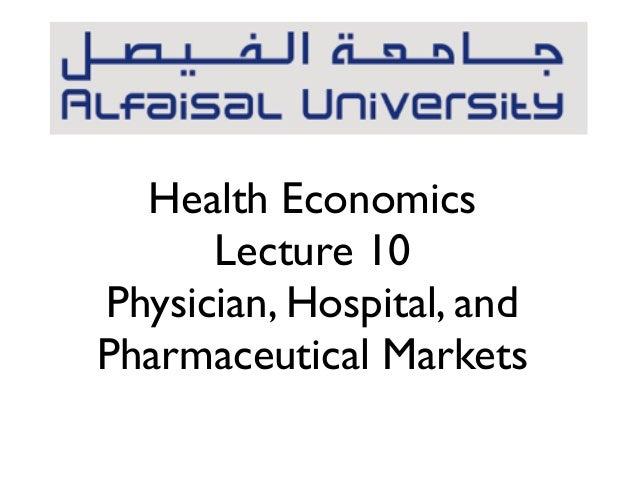 Hen 368 lecture 10 markets