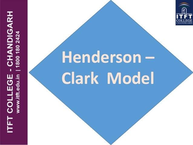 ITFT  -  Henderson clark model