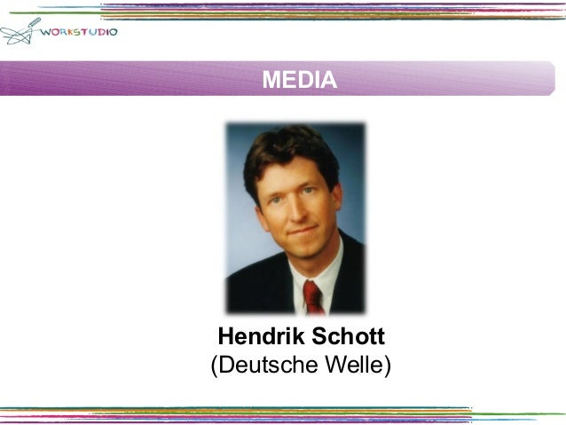MEDIA  Hendrik Schott (Deutsche Welle)