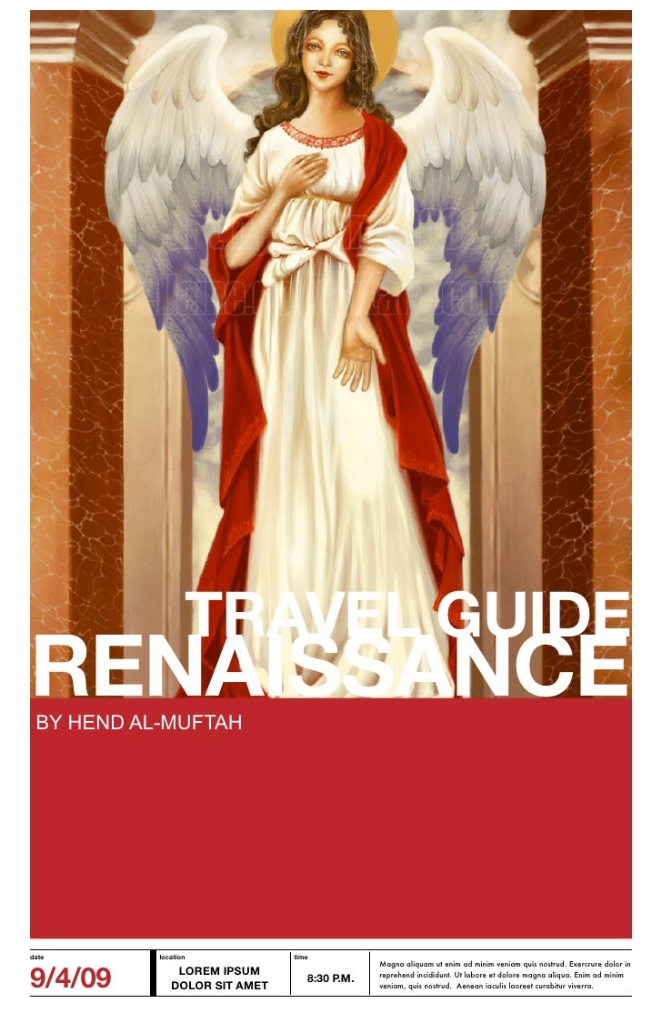 TRAVEL GUIDE RENAISSANCE  BY HEND AL-MUFTAH     date       location            time                                       ...