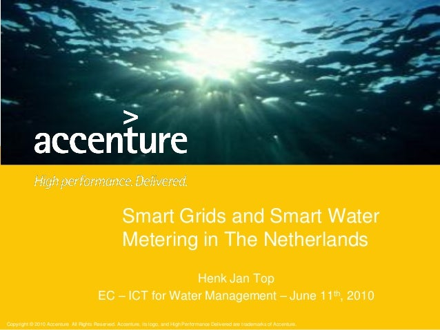 Smart Grids and Smart Water Metering in The Netherlands