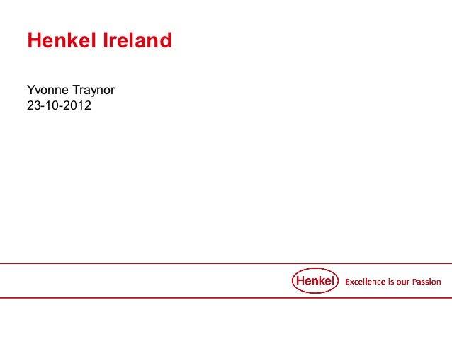 Henkel IrelandYvonne Traynor23-10-2012