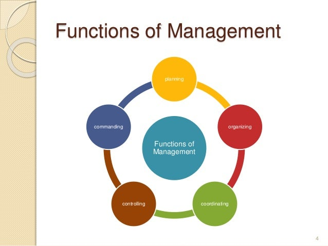 fayol 4 function Giants of management: henri fayol the 6 functions and 14 principles of management in his book, fayol proposed that there were six primary functions.