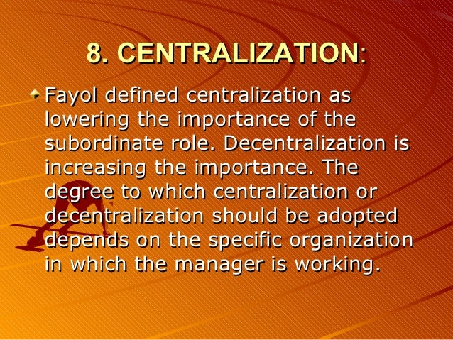 centralization essay Stephen k sanderson wrote that over the last 4000 years chiefdoms and actual states have gone through sequences of centralization and decentralization of economic.