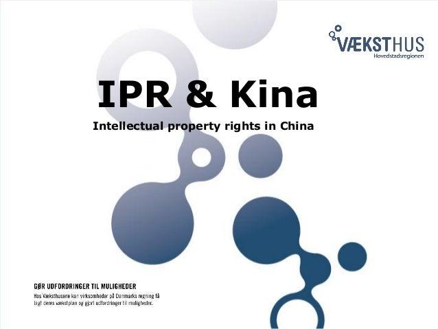 Intellectual Property Right (IPR) / Henrik Tørnquist, Væksthus Hovedstadsregionen