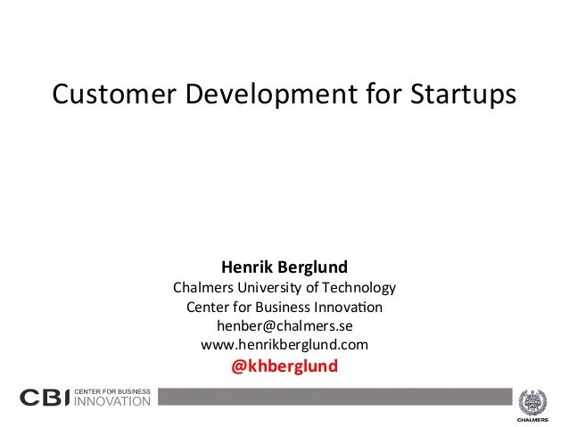 Henrik Berglund - Customer Development for startups