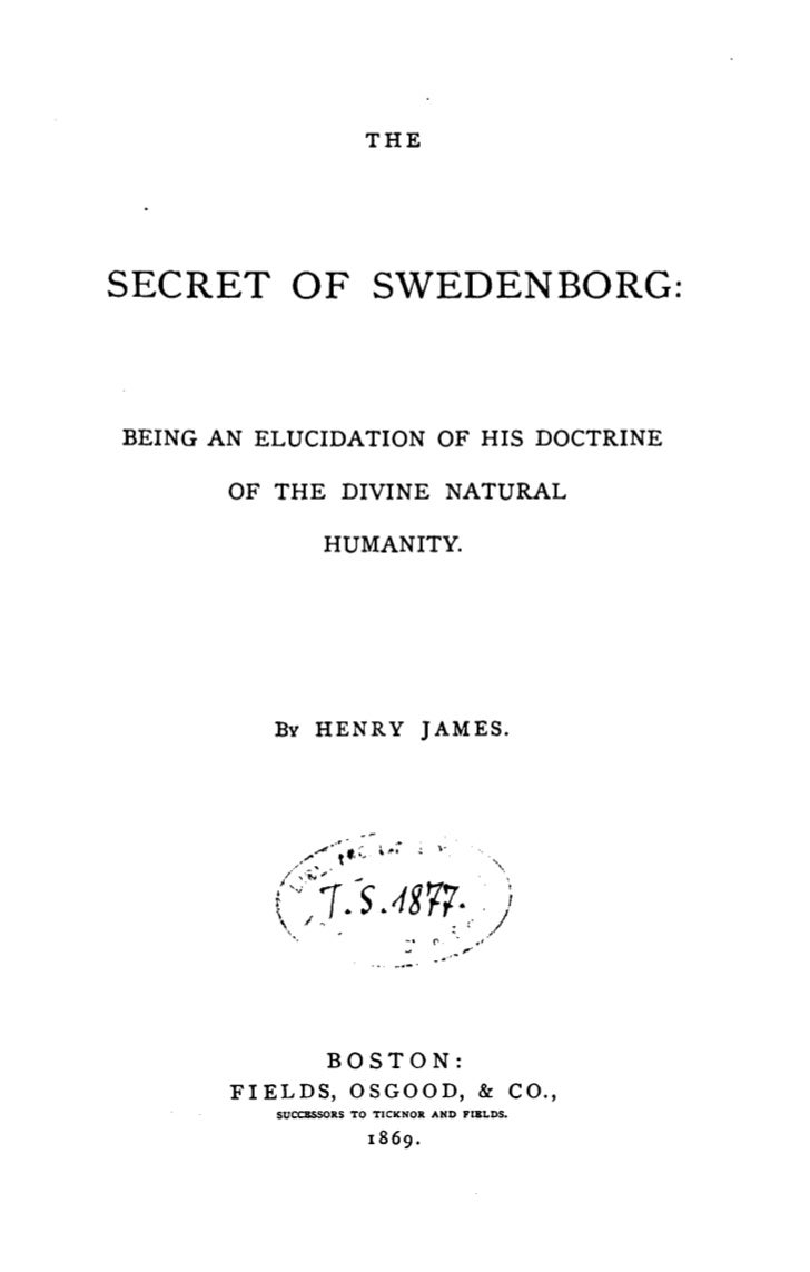 Henry James-The-Secret-of-Swedenborg-Boston-1869