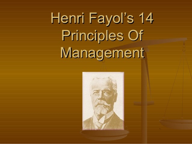"""henri fayols management theory Fayol's theory stood in stark contrast to that of taylor, his great  this profile is  adapted from """"the economist guide to management ideas and."""