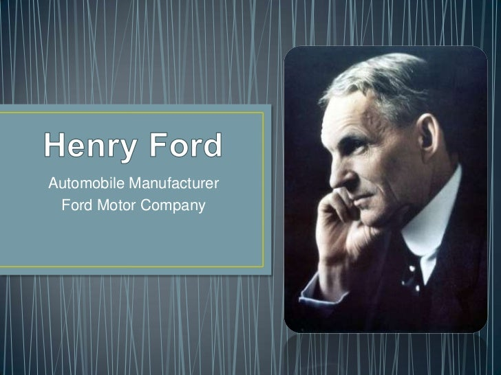 Automobile Manufacturer Ford Motor Company