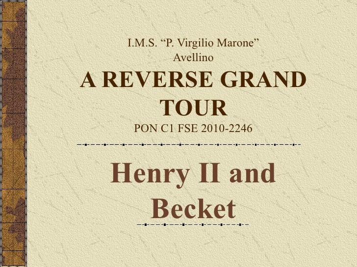 Henry II the constitution of clarendon and thomas becket master