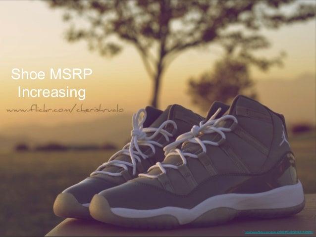Sneaker MSRP Rising