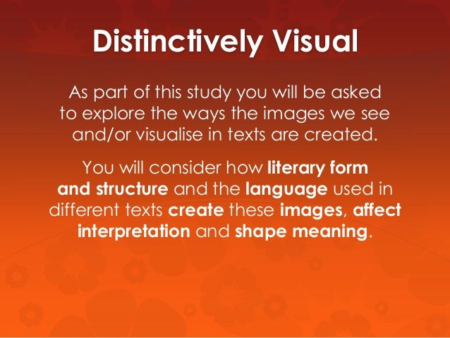 distinctively visual essay questions