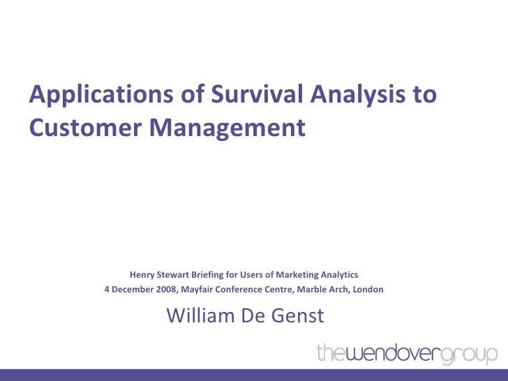 Henry Stewart Survival Analysis