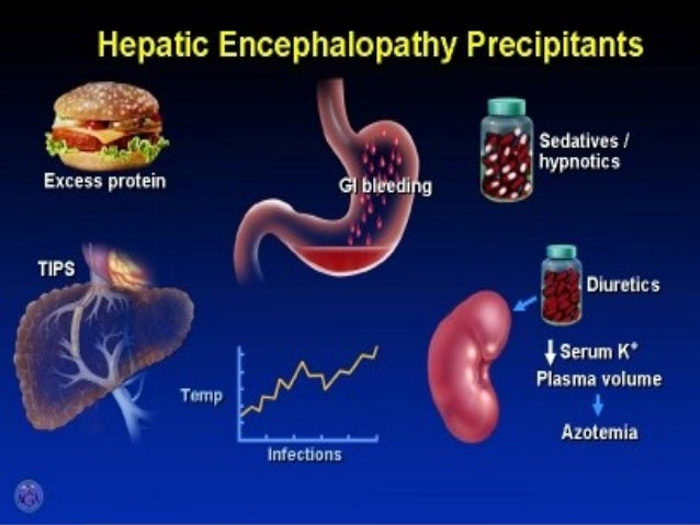 symptoms and treatment of hepatic encephalopathy Hepatic encephalopathy (he) is a brain condition that is caused by liver disease liver diseases such as cirrhosis prevent the liver from removing ammonia and other harmful substances from the blood the harmful substances build up in the blood and prevent the brain from working correctly.