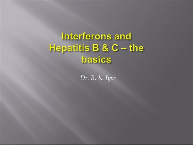 Hepatitis and interferons