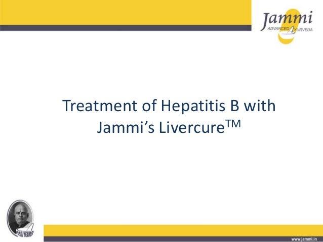 Treatment of Hepatitis B with Jammi's LivercureTM