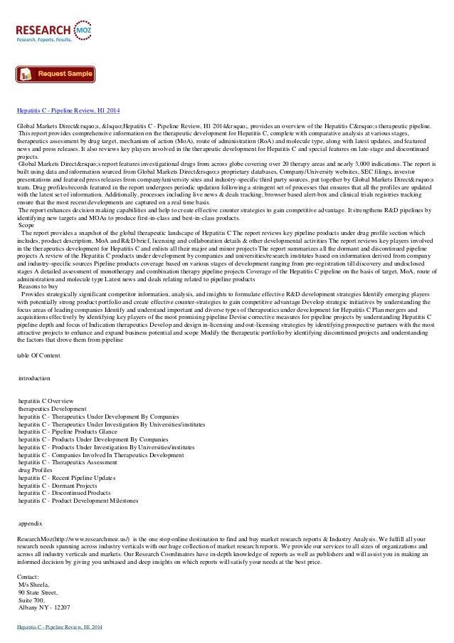 Hepatitis c   pipeline review, h1 2014
