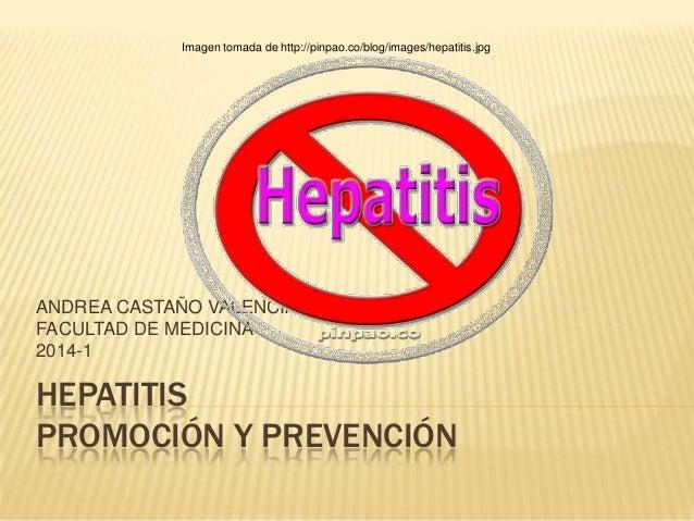 Imagen tomada de http://pinpao.co/blog/images/hepatitis.jpg  ANDREA CASTAÑO VALENCIA FACULTAD DE MEDICINA 2014-1  HEPATITI...