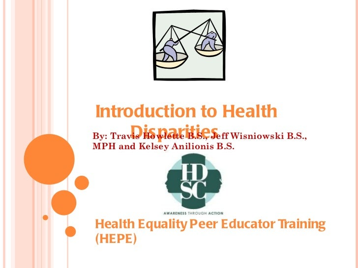 an introduction to disparities in health and health care Minority populations and health: an introduction to health disparities in the united states is a welcome addition to the field because it widens access to the complex issues underlying the.