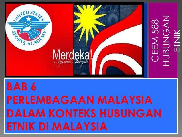 Hubungan Etnik melalui Perlembangan di Malaysia