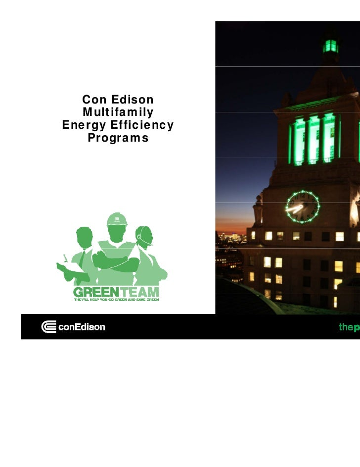 Con Edison   MultifamilyEnergy Efficiency    Programs