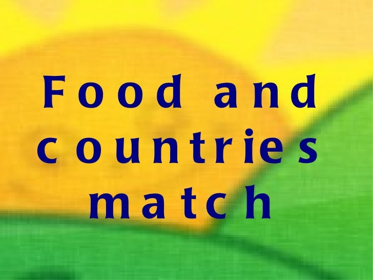 Food and countries match