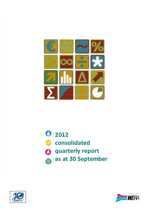 Hera Group - 2012 consolidated quaterly report as at 30 september