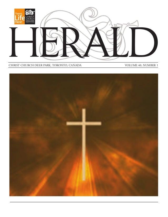 HERALD CHRIST CHURCH DEER PARK, TORONTO, CANADA  VOLUME 40, NUMBER 1