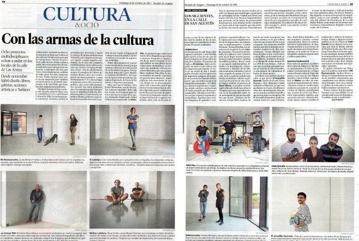 Con las armas de la cultura. Heraldo de Aragón