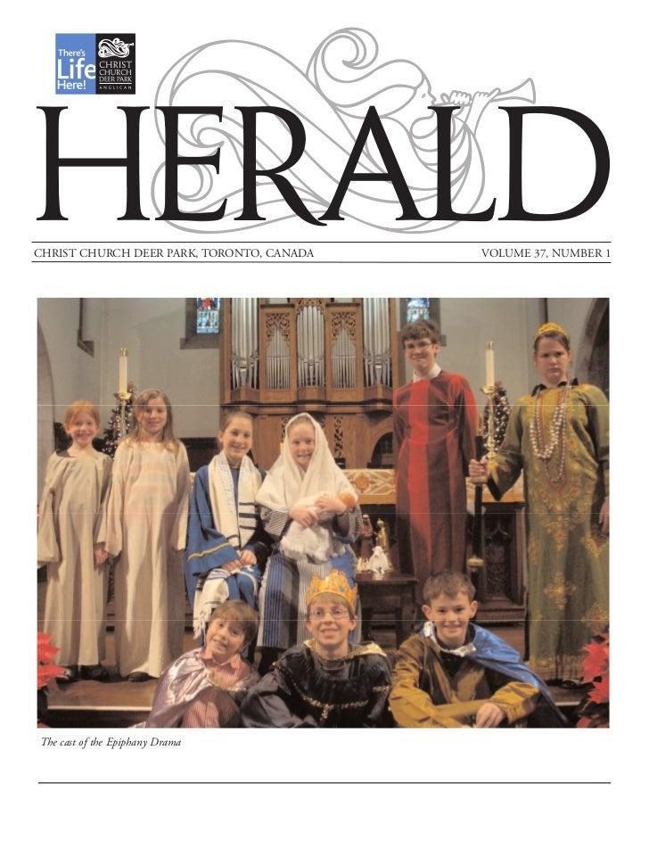 Herald parish newsletter January February 2011 vol37 no1