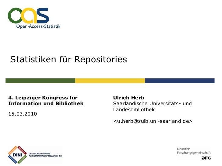 Statistiken für Repositories