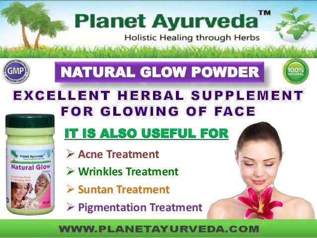 Herbal Face Pack - Natural Glow Powder from Planet Ayurveda