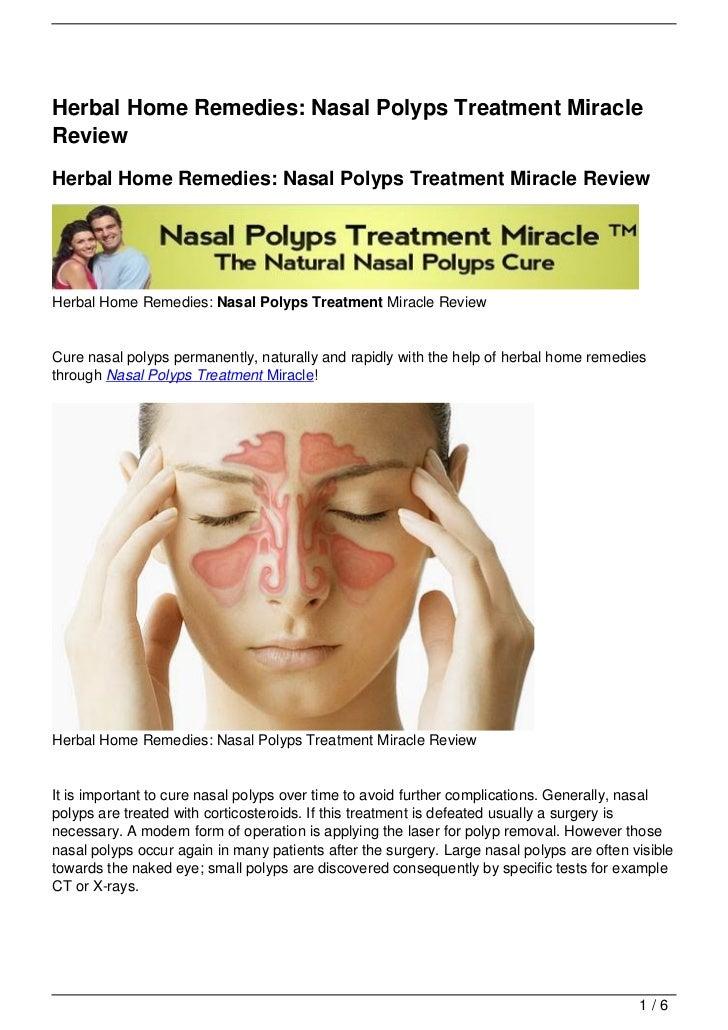 Nasal polyps treatment miraclereviewherbal home remedies nasal polyps