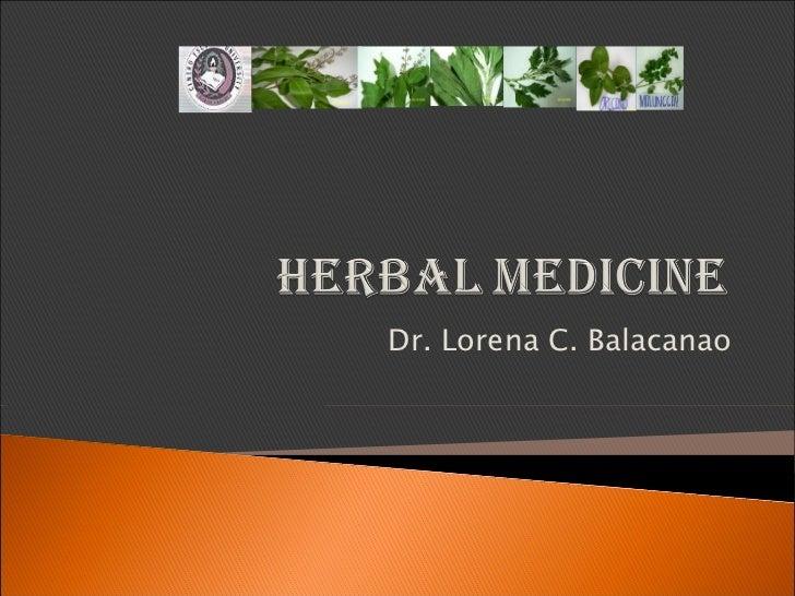 Herbal medicine- PHC