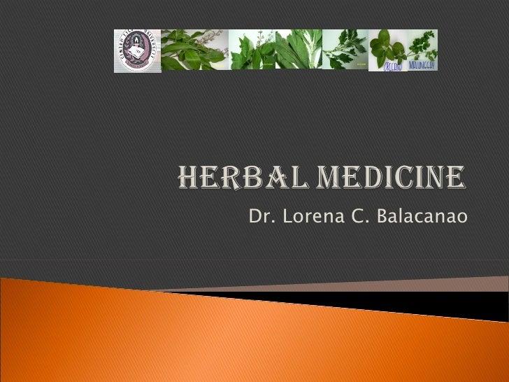 Dr. Lorena C. Balacanao