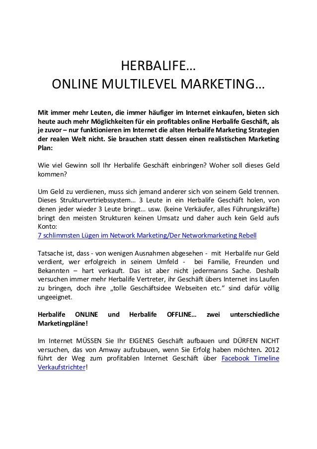 HERBALIFE…    ONLINE MULTILEVEL MARKETING…Mit immer mehr Leuten, die immer häufiger im Internet einkaufen, bieten sichheut...