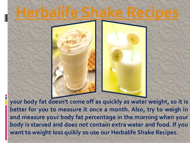 Healthy herbalife shake recipes / Raw meal replacement shakes