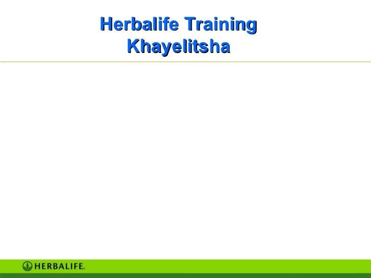 Herbalife Training Khayelitsha