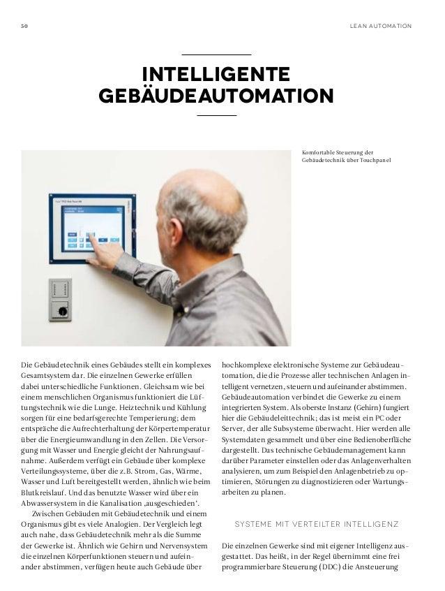 50  Lean Automation  Intelligente Gebäudeautomation Komfortable Steuerung der Gebäudetechnik über Touchpanel  Die Gebäudet...