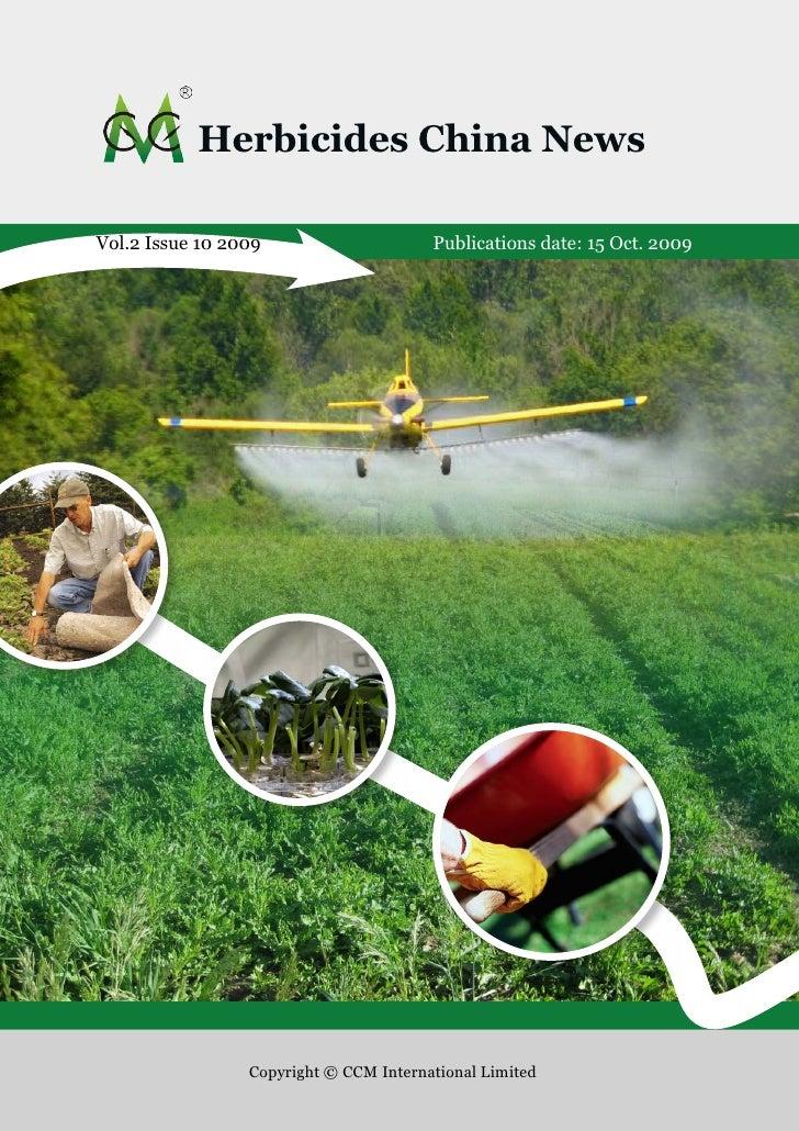 Herbicides China News Sample - Published by CCM International Ltd