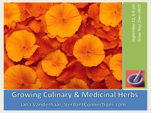 Grow Your Own, Nevada! Fall 2012: Growing Culinary and Medicinal Herbs