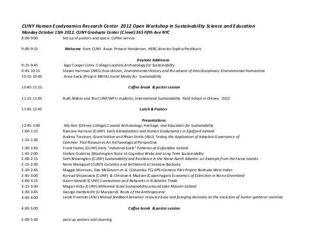Herc 2012 open workshop schedule