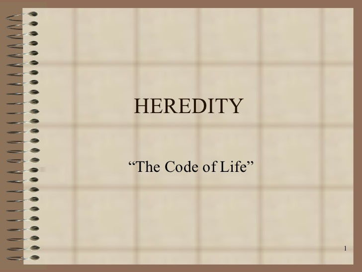 Heredity Notebook Overview